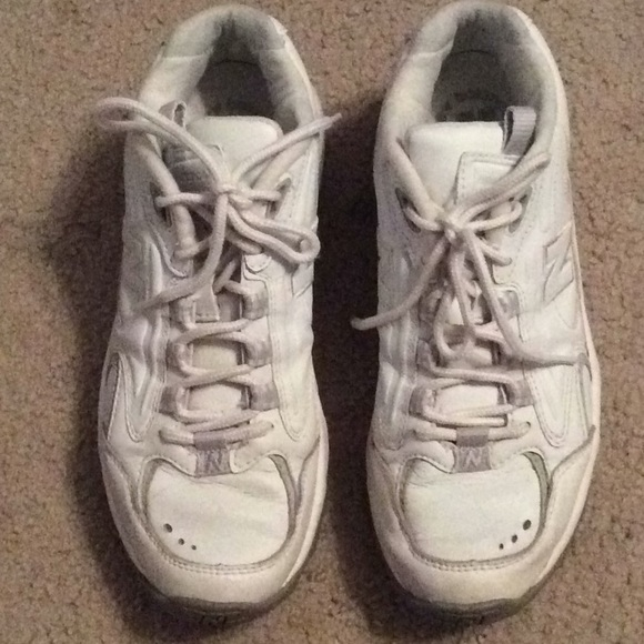 New Balance Shoes - White leather New Balance cross training sneakers